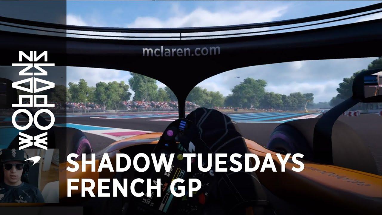 McLareni meeskonna poolne virtuaalring Prantusmaa GP-l