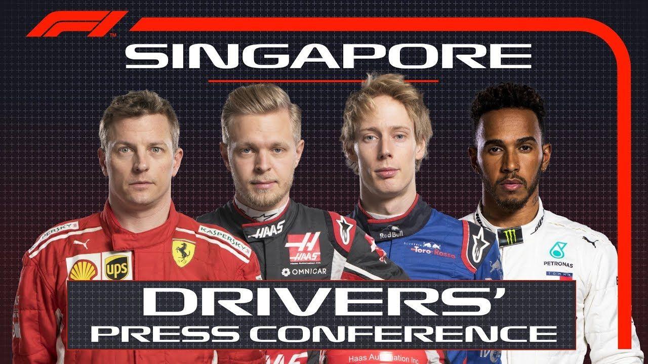Singapuri GP 2018 - neljapäevane sõitjate pressikonverents, F1